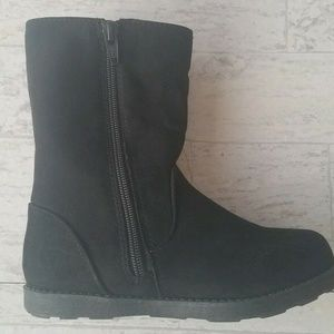 Cat & Jack Toddler Girls' Reva Ruffle Boots Black
